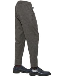 Antonio Marras Gray Paisley Printed Wool Felt Trousers for men