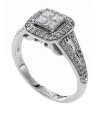 Effy | Metallic Diamond And 14k White Gold Ring, 0.61 Tcw | Lyst