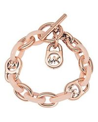 Michael Kors Pink Mkj4328791 Ladies Charm Bracelet