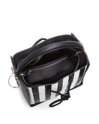 3.1 Phillip Lim - Black Soleil Small Striped 3D-Textured Leather Shoulder Bag - Lyst