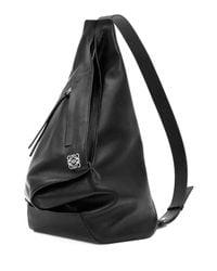 Loewe Black Anton One-shoulder Backpack for men