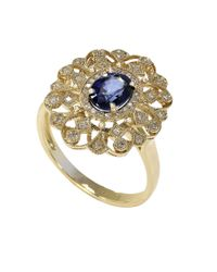 Effy | Metallic 14kt Sapphire And Diamond Ring | Lyst