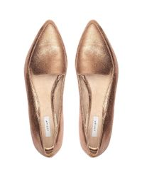 Jigsaw Metallic Camile Pony Pointed Flat Shoes