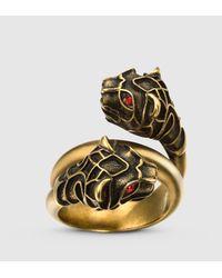 Gucci Metallic Tiger Head Ring