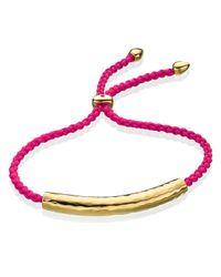 Monica Vinader Pink Esencia Friendship Bracelet