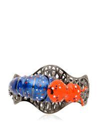 Vernissage Jewellery - Metallic Fire Fly Articulate Bracelet for Men - Lyst