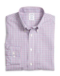 Brooks Brothers - Purple Non-iron Brookscool® Madison Fit Small Plaid Sport Shirt for Men - Lyst