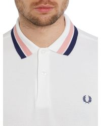 Stussy | White Oxford Bold Tipped Polo for Men | Lyst