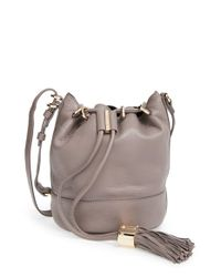 See By Chloé | Gray Vicki Small Leather Bucket Bag | Lyst