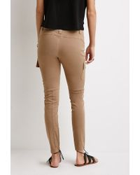 Forever 21 - Brown Zippered Cargo Pants - Lyst