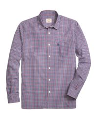 Brooks Brothers - Blue Small Gingham Sport Shirt for Men - Lyst