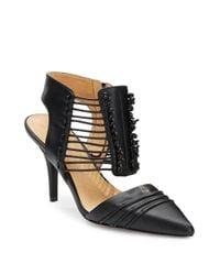 L.A.M.B.   Black Riley Leather D'Orsay Pumps   Lyst