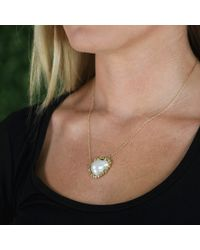 Jordan Alexander Metallic White Fresh Water Baroque Pearl Necklace