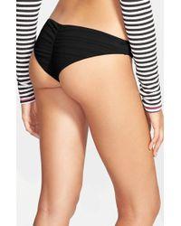 Volcom Black 'mayan' Bikini Bottoms