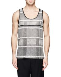 Alexander Wang Gray Perforated Leather Tank for men