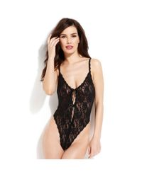 Hanky Panky | Black After Midnight Open Panel Teddy 488406 | Lyst