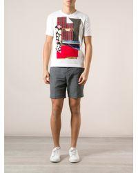Comme des Garçons White Patchwork Tshirt for men