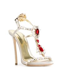 DSquared² - Gray 'queen Mary' Sandals - Lyst