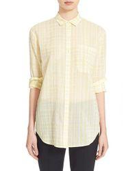ATM | Yellow Plaid Boyfriend Shirt | Lyst