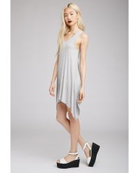 Forever 21 - Gray Knit Trapeze Dress - Lyst