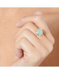 Astley Clarke - Metallic Aqua Cushion Ring - Lyst