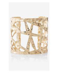 Express Metallic Hammered Cutout Cuff Bracelet