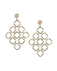 Asha | Metallic Qf Chandelier Earrings | Lyst