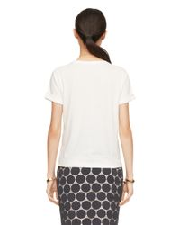 kate spade new york - White Toast Of The Town Tee - Lyst