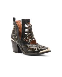 Jeffrey Campbell - Black Maceo Studded Leather Boots - Lyst