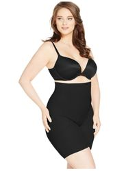 Miraclesuit Black Plus Shapewear Firm Control Fit High Waist Thigh Slimmer 2928