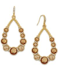 INC International Concepts | Natural Gold-tone Cream Stone Teardrop Earrings | Lyst