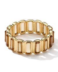 Ippolita Metallic 18k Gold Rock Candy Gelato Mini-stone Vertical Ring