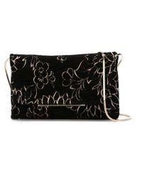 Lanvin - Black Floral Shoulder Bag - Lyst