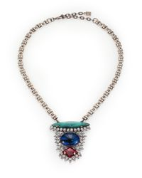 DANNIJO - Metallic Zayne Mixed Pendant Necklace - Lyst