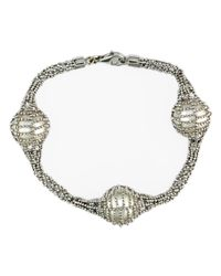 Lord & Taylor | Metallic Pearl Lace Sterling Silver And Freshwater Pearl Tennis Bracelet | Lyst