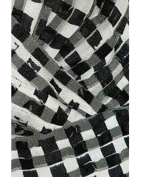 Oscar de la Renta | Black Ruffled Skirt Lace Dress | Lyst
