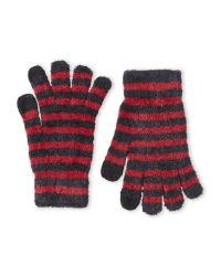 Steve Madden | Gray Varigated Stripe Gloves | Lyst