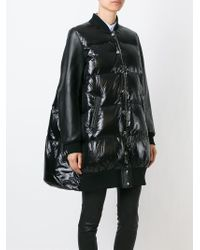 Sacai Luck - Black Oversized Padded Coat - Lyst
