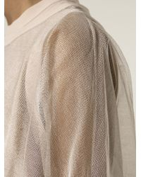 Brunello Cucinelli | Pink Layered Sheer Top | Lyst
