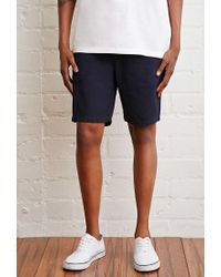 Forever 21 Blue School Uniform Chino Shorts for men