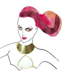 Yazbukey - Metallic Le Lipstick Necklace - Lyst