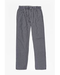 French Connection   Blue Metal Core Check Lounge Pants for Men   Lyst