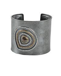 Todd Reed Metallic Red Diamond Cuff Bracelet