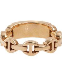 Hoorsenbuhs | Metallic Rose Gold Monogram Dame Tri-Link Ring | Lyst