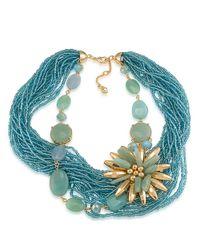 Carolee | Metallic Beaded Charm Bracelet | Lyst