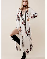 Free People - Brown Rosemary Dress - Lyst