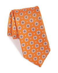 John W. Nordstrom | Orange 'brunswick Neat' Silk Tie for Men | Lyst