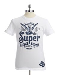 Superdry - White Short Sleeved Classic Spirit Graphic Tshirt for Men - Lyst