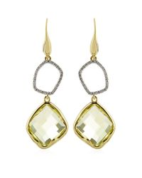 Monica Vinader | Yellow Riva Lemon Quartz Diamond Cocktail Earrings | Lyst