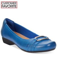 Clarks | Blue Collection Women's Blanche Rosa Flats | Lyst